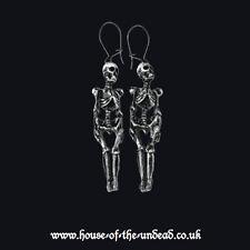 Alchemy Gothic Esqueleto Pendientes. esquelético. Horror Halloween/Horror. la muerte.