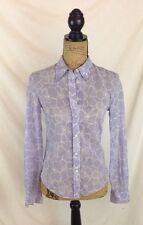 Vintage Michael Kors - Pale purple & white floral button down, long sleeve sz S