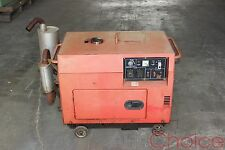 5KVA Diesel Generator w Electric Start - 2 x 240v + 12v Outlets