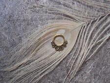 Tribal Brass Pierced Nose Rings Antique boho Septum Ethnic body Jewellery Gypsy