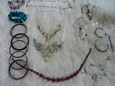 Citrine gemstone Prehnite Necklace & Various Item retro Bundle job lot jewellery