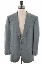 NINO CERRUTI Mens 2 Button Blazer Jacket Size 38 Medium Green Check Wool