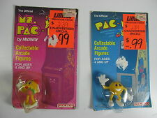 Vintage Ms Pac Man Pac Man Collectable Arcade Figure by Coleco 1982