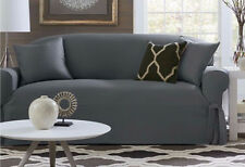 Sofa Sure Fit slip cover slipcover Essential Twill Supreme Gray