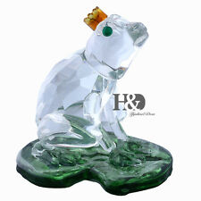 3D Lotus Leaf Frog Crystal Paperweight Animal Facet Figurines Glass Wedding Gift