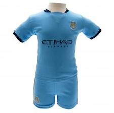Manchester City Fc Man City Shirt & Short Set 9/12 mths Blue Football Kit Baby