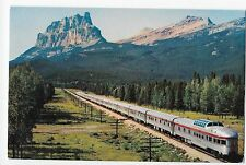 Vintage Postcard Train CPR The Canadian and Mount Eisenhower Rockies