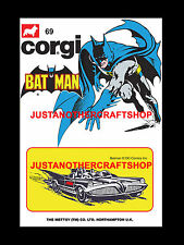 Corgi Batman Batmobile Juniors 69 A3 Size Poster Advert Leaflet Shop Sign 1974
