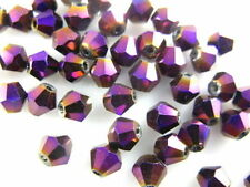 Bulk 300Pcs Faceted Bicone Crystal Glass Beads Spacer Findings 4mm Craft Jewelry