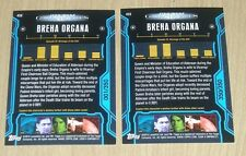 2013 Topps Star Wars Galactic Files S2 BLUE parallel BREMA ORGANA #450 1/350/350