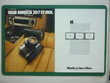 4/79 PUB APPAREIL PHOTOGRAPHIQUE MINOLTA XD7 CAMERA ORIGINAL FRENCH AD