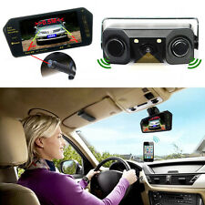 "7"" Bluetooth MP5 Rearview Mirror Monitor + 3 in 1 Car Video Sensor Backup Camera"