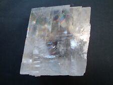 LARGE OPTICAL CALCITE CRYSTAL California Iceland Spar Rhomb 2.2 x 2 x 1.8 inches