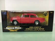 *1955 CHEVY STREET MACHINE 1:18TH LIMITED EDITION AMERICAN MUSCLE by ERTL NIB