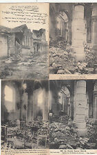 Lot 4 cartes postales anciennes GUERRE 14-18 WW1 MARNE SAINT-HILAIRE-LE-GRAND 1