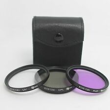 49mm UV CPL FLD Polarizing Lens Filter Kit Set For Sony A3000 NEX-5 NEX-7 18-55