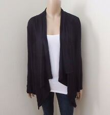 NWT Forever 21 Cascade Waterfall Cardigan Size Small Black Sweater