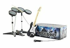 ORIGINAL Nintendo Wii-U/Wii ROCK BAND 1 Special Edition bundle Set drums guitar