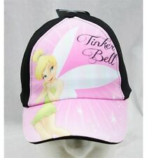 NWT Disney Tinkerbell Fairies Baseball Cap Black & Pink-  Child Size Licensed