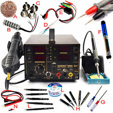 Kits 4 In1 Rework Soldering Station Hot Heat Air Gun USB Power Supply 110V 909D+