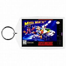 Super Nintendo Snes MEGA MAN X2  Game Box Cover Cartridge Keychain