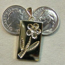 9 ct gold second hand flower pendant