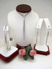 """Brighton """"CONTEMPO ICE"""" Necklace-Earring-Bracelet Set (MSR$174) NWT/Pouch"""
