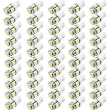 50x 24V T10 5SMD LED W5W 168 194 Side License Plate Side Light bulbs Xenon White