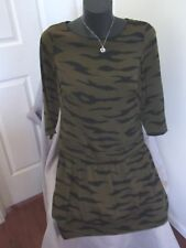 Ladies Country Road Work Business Corporate Black Green Lined Dress Size 6