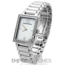 *NEW* LADIES EMPORIO ARMANI FASHION CRYSTAL WATCH - AR0758 - RRP £229