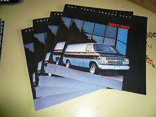 1985 Chevrolet Vans Sales Brochure - Lot of 5 each Package