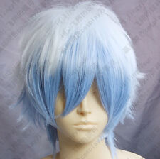 157 Gintama Sakata Gintoki Gradient blue mix Cosplay Wig short wig