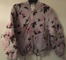 BNWT Coat Jeremy Scott Adidas Originals Floral Bomber Jacket Small
