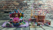 Polly Pocket Disney World Magic Kingdom Cinderella & Sleeping Beauty Castle Lot