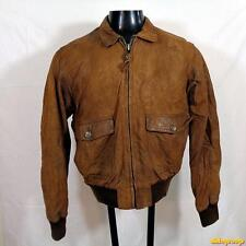 BANANA REPUBLIC Lambskin Leather FLIGHT Bomber JACKET mens Size S 38 brown