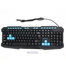 Multimedia Gaming Gamer USB Wired Game Keyboard Standard for Computer Laptop PC