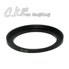 52mm to 62mm 52-62mm Male-Famale Step-Up Lens Filter Hood Cover Ring Adapter