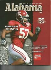 October 20, 2007 TENNESSEE vs. ALABAMA Crimson Tide FOOTBALL PROGRAM