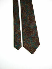 ALCIONE Milano PAISLEY 100% SETA SILK ORIGINALE MADE IN ITALY