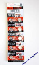 Maxell LR1130 coin cell button battery AG10 LR54 GP189 389A 10GA 1168A   x10 pcs