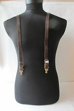 WWII WW2 GERMAN ALLY POLICE OFFICER LEATHER Y-STRAPS
