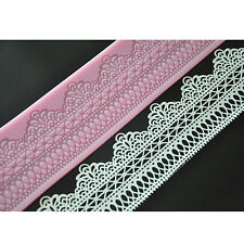 FOUR-C New Cake Tools Sweet Lace Mat Lace Silicone Mold Sugarveil Cake Lace Mat