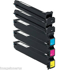 5-Pack Toner Set for Konica Minolta BizHub C250 C252 C250p C252p TN-210 TN210