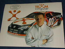2001 JASON LEFFLER #01 CINGULAR WIRELESS NASCAR POSTCARD