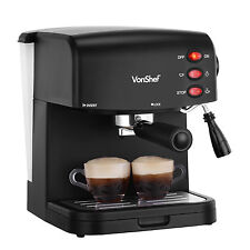 VonShef 15 Bar Espresso Machine Cappuccino Latte Coffee Maker 850W Black