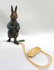 Vienna Cold Painted Bronze Beatrix Potter Peter Rabbit Miniature Figurine 1 1/2""