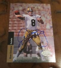 Archie Manning Ole Miss Rebels quarterback signed autographed card NO Saints