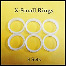 Finger Rings Grips Inserts X-Small Petite Sizer Grooming Shears Free USA Ship