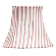 Pink and White Striped Chandelier and Sconce Clip-On Silk Shade, #2419