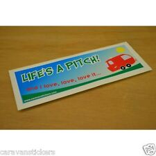 Car Window 'Life's a Pitch' Sticker Decal Graphic SINGLE